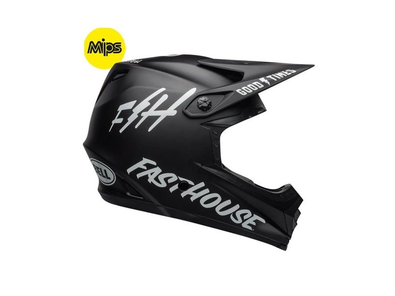 Bell Full-9 Fusion Mips MTB Full Face Helmet 2019: Fasthouse Matte Black/White click to zoom image