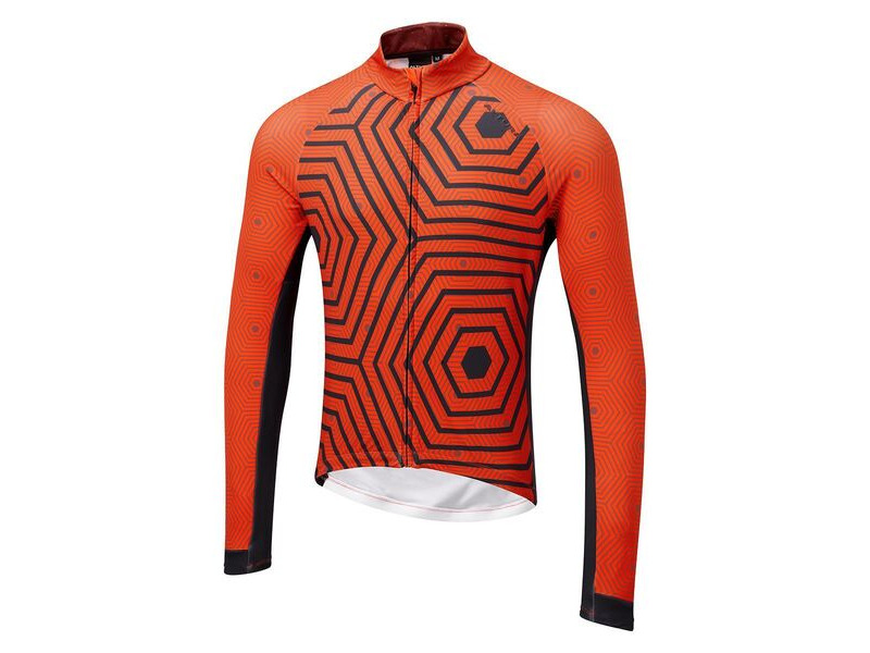 Altura Icon Long Sleeve Jersey - Hex-repeat Orange/Navy click to zoom image