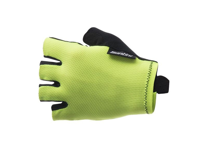 Santini 365 Brisk Short Finger Glove Yellow click to zoom image
