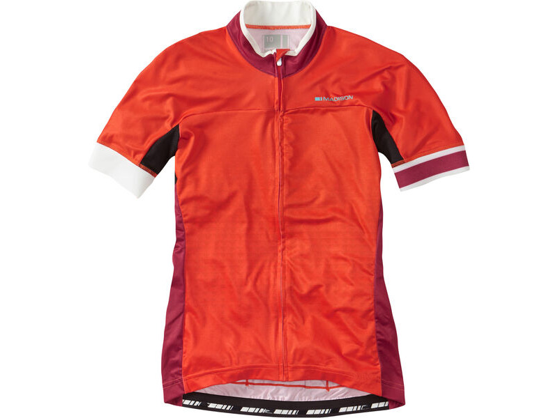 Madison Sportive Race Womens Short Sleeve Jersey, Chilli Red click to zoom image